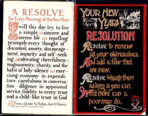 New Year's resolutions postcard from 1915